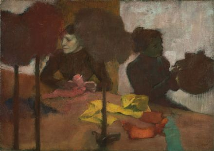 Degas, Edgar: The Milliners. Fine Art Print/Poster. Sizes: A4/A3/A2/A1 (003766)